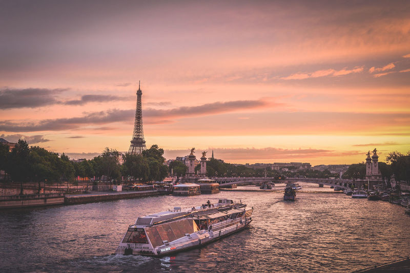 Travel photos from city of Love - Paris. Somethimes I'm rewarded to carry aboung 3 kg photocamera! :D Concorde Eiffel Tower France Paris Paris ❤ Paris, France  Seine Sunset_collection The Architect - 2018 EyeEm Awards The Great Outdoors - 2018 EyeEm Awards The Photojournalist - 2018 EyeEm Awards The Street Photographer - 2018 EyeEm Awards The Traveler - 2018 EyeEm Awards Tour De Eiffel Architecture Building Exterior Built Structure City Cloud - Sky Mode Of Transportation Nature Nautical Vessel No People Outdoors Passenger Craft River Sky Sunrise Sunset Tall - High Tourism Tower Transportation Travel Travel Destinations Water