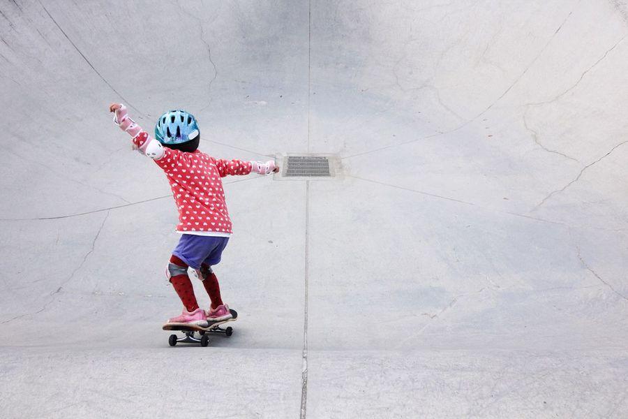 Sports Photography EyeEm Best Shots Skateboards Skateboarding Skateboard Minimalism Kidsphotography Pastel Power