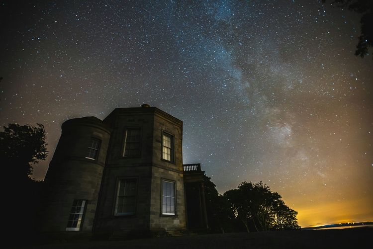 Milky way over Temple of the Winds Milky Way Stars Astrophotography Long Exposure Outdoors Space Night Nightphotography Night View Mount Stewart