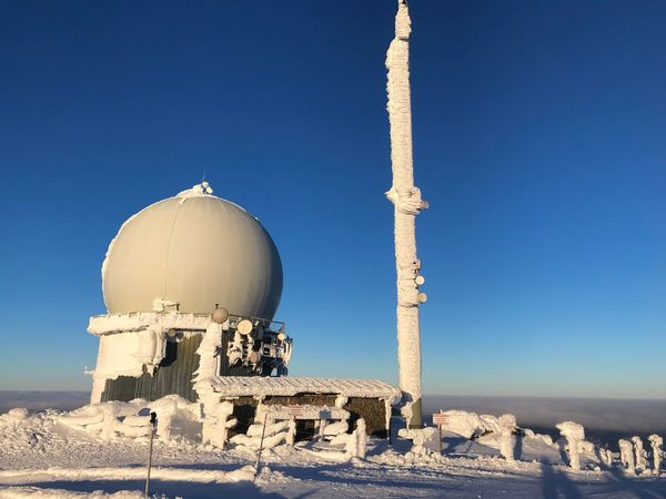Radar Station Cold Outside Military Radar Winter Sky Architecture Nature Clear Sky Built Structure Building Exterior Day Dome