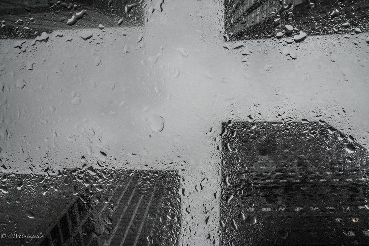 Blackandwhite City Cloud - Sky Drop Droplet Focus On Foreground Manhattan New York City Rain Sky Water Weather Wet