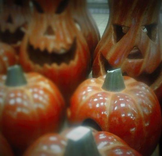 Close-up Day Halloween EyeEm Indoors  Jack-o'-Lantern No People Orange, Colorful, Fall Colors Pumpkins