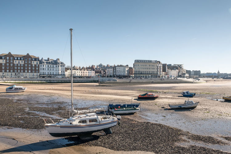View of the Harbour, Margate, Kent, UK Yacht Outdoors Beach Sailboat Port No People Day Harbor Sunlight Sky Water Transportation Nautical Vessel Clear Sky Margate Kent Harbour Boats Sea Seaside Coast Coastal