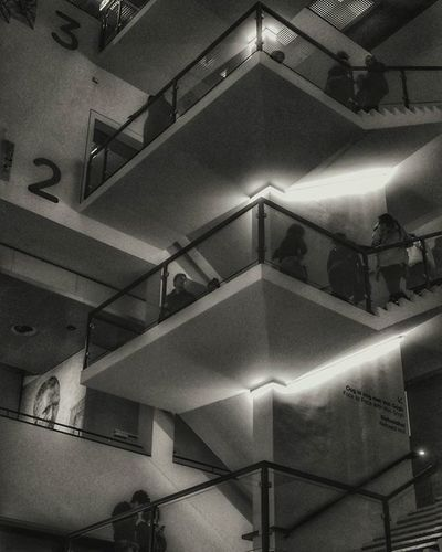 Vangogh museum march 2016 in amsterdam Stairs Remember Archilovers Nophotos Lights Bw_lover