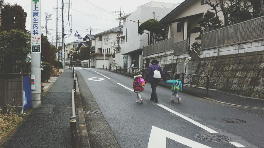 On The Way To Station Grandma Family Kids Grandma