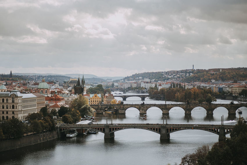 Charles Bridge Cityscape Czech Republic Prague Tranquility Bridge - Man Made Structure Daylight Lifestyles River Tourism Travel Destinations