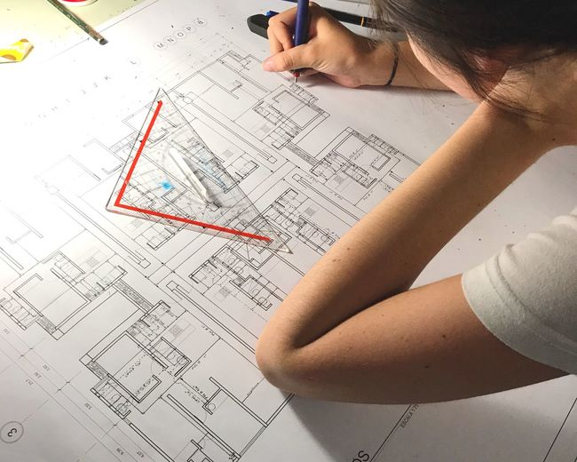 Archi work work work Handmade Water Practicing Working Apartment Construction Arch One Person Plan Blueprint Diagram Human Hand Indoors  Architecture Close-up first eyeem photo