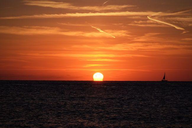 Sunset Horizon Over Water Beauty FUJIFILM X-T1 Formentera Island