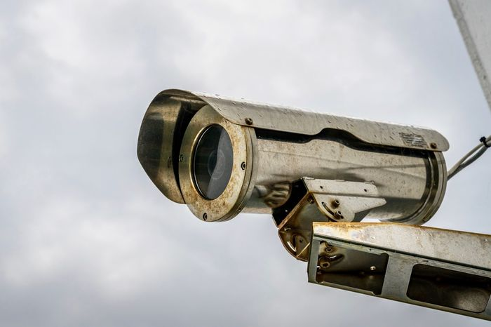 Close-up Cloud - Sky Day Low Angle View No People Outdoors Security Watching Watching People Camera Observation Security Camera Observation Deck Security System Big Brother Metallic The EyeEm Collection Premium Collection Getty Images