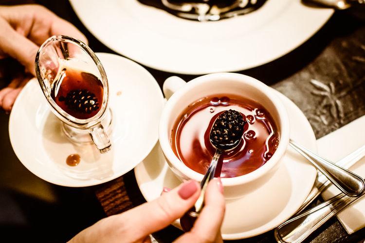 Tea & siberian pine cone jam Cup Drink Food Food And Drink Holding Human Hand Indoors  Jam Pine Cone Russian Siberia Sweet Tea