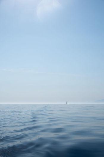Blue Horizon Over Water Idyllic Marine Nautical Vessel Outdoors Sailboat Sailing Scenics - Nature Sea Sky Tranquil Scene Tranquility Water The Traveler - 2018 EyeEm Awards