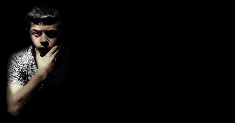 EyeEm Selects Black Background Portrait Human Face Shadow Studio Shot Spooky Shirtless Men Dark Copy Space Vampire Chiaroscuro  Film Noir Style Jack O Lantern Mafia  Gangster Hollywood - California Organized Crime Trench Coat Pixelated Halloween Zombie Stage Make-up Monster - Fictional Character Demon - Fictional Character Focus On Shadow Evil
