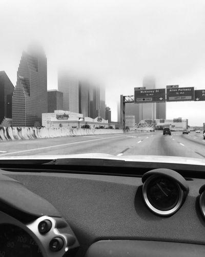 Car Architecture Skyscraper Downtown Houston