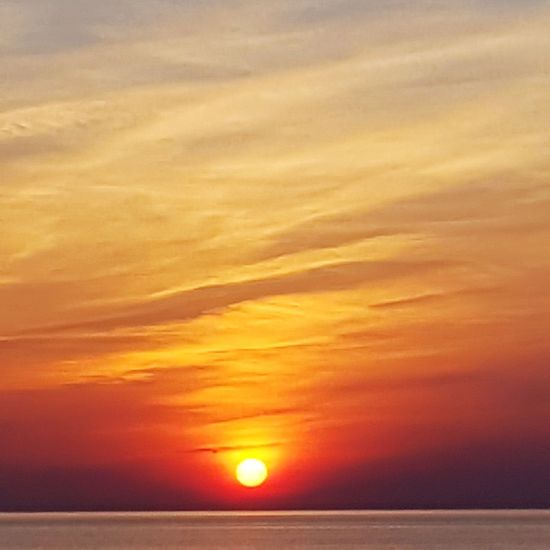 The San Rampage  Water Sea Sunset Horizon Beauty Beach Red Saturated Color Awe Yellow