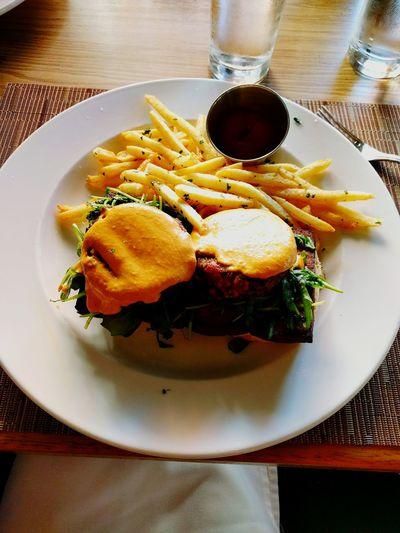 Bld Brunchtime Vegan Burger Foodie Arugula
