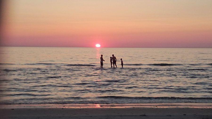 Evening At Beach Great Summer.
