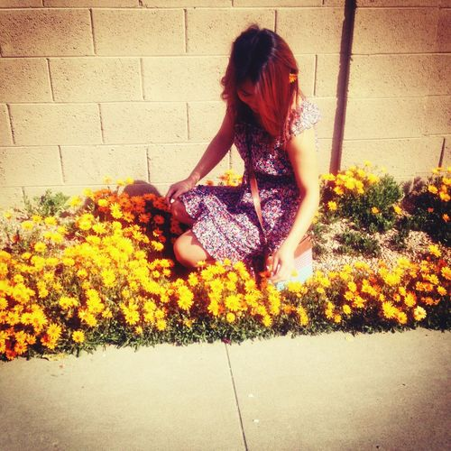 Me And Flowers Taking Photos Enjoying Life That's Me
