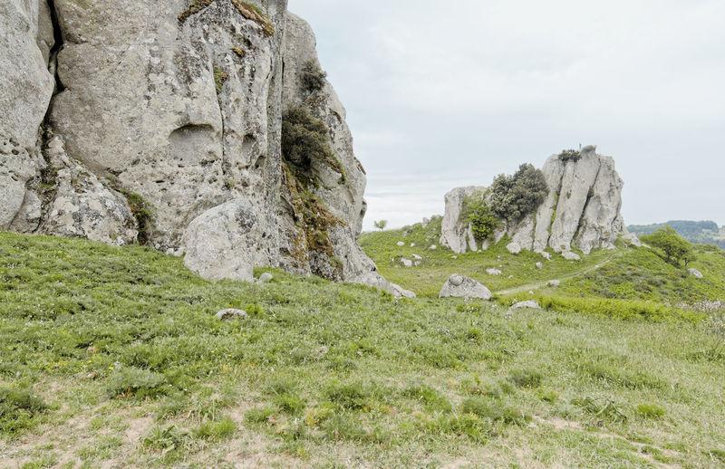 Rocks Sky Grass