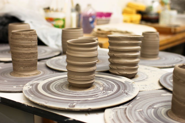 Art And Craft Ceramics Ceramics Studio Clay Clay Work Large Group Of Objects Pottery Pottery Pieces Preparation  Variation Working