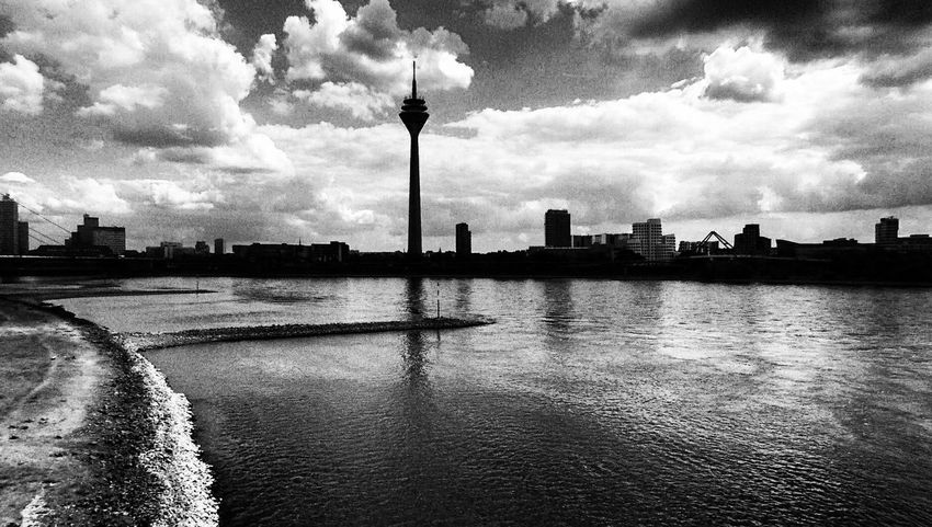 Architecture Cloud - Sky Water Sky Built_Structure Travel Destinations Building Exterior City Reflection Outdoors No People Skyscraper Day Cityscape Urban Skyline Tree Nature Politics And Government Noir Et Blanc Alone Time POV Drone Photography Drone View Urban Düsseldorf Let's Go. Together.