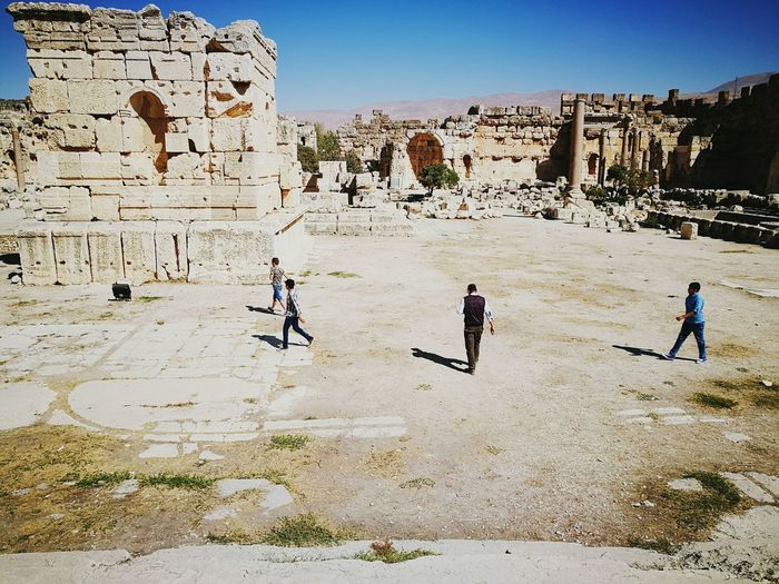 Tourism The Past Travel Destinations History Old Ruin Outdoors International Landmark Stone Wall Ruins Baalbek Middle East Lebanon Ancient
