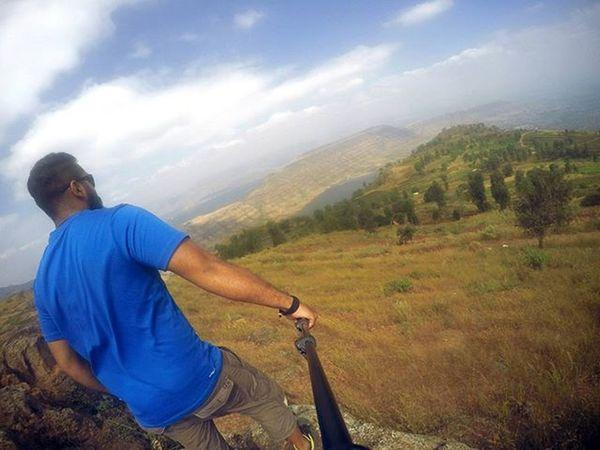 The climb is tough, but the view from the top is worth it. Thisplace Theviewfromhere Beautiful Gopro Goproselfie Goprooftheday Skyhigh Allgreen Goodday Boysonaroadtrip Ahd Goa Mytravelgram
