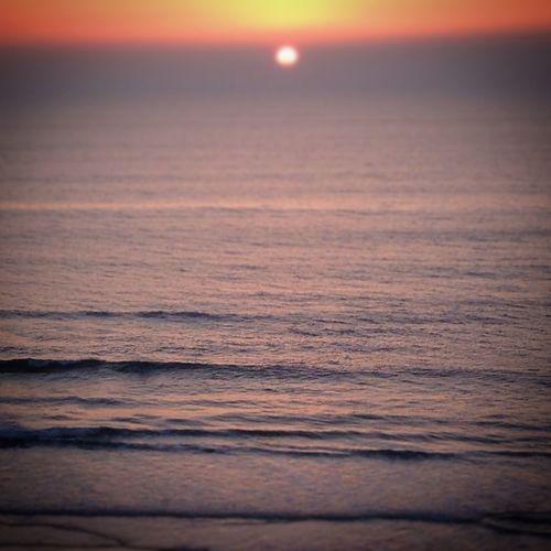 praia da areia branca Beach Horizon Over Water Sand Sea Sunset Tranquil Scene Tranquility Wave