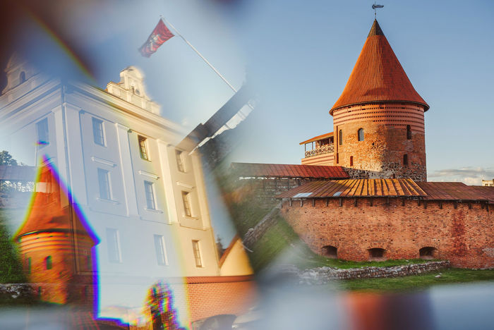 Kaunas old town reflection Architecture Building City City Reflections Details Evening Glass Prism Kaunas Castle Summer Travel Destinations