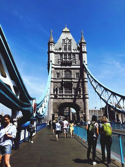 Sky Architecture Built Structure Group Of People Real People Crowd Bridge Large Group Of People Building Exterior Connection Travel Destinations Bridge - Man Made Structure Nature Travel Men Tourism Day Women Transportation Lifestyles