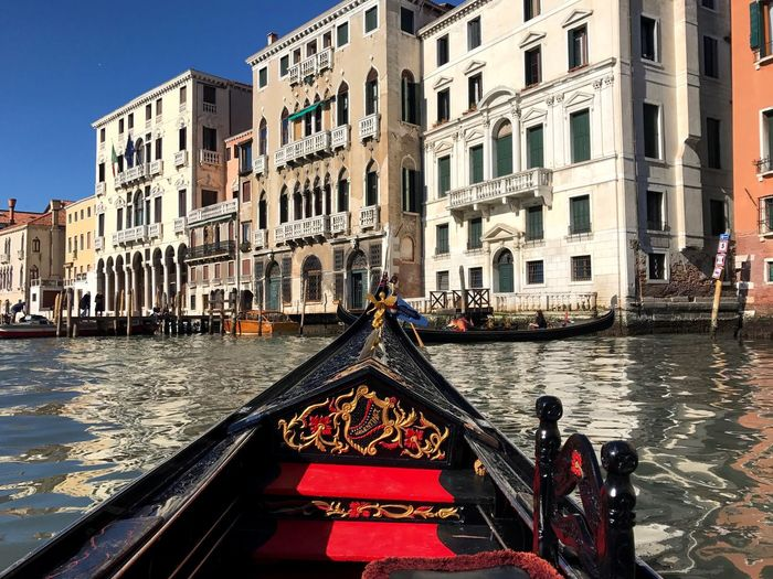 Canal Architecture Gondola - Traditional Boat Building Exterior Built Structure Water Travel Destinations Gondolier Nautical Vessel Transportation Day Outdoors Gondola Oar City Rowing No People Sky