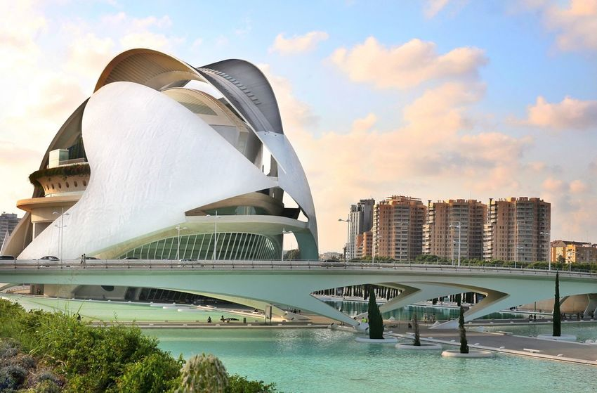 EyeEm Selects Architecture Travel Destinations Building Exterior Modern Water Skyscraper Business Finance And Industry Built Structure Outdoors Sky Cityscape Day Cloud - Sky City No People Urban Skyline Scenics Futuristic Nature Valencia, Spain Vacations City Architecture Modern