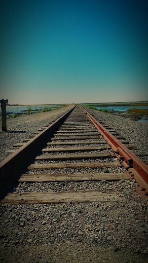 On the right track to success Train Tracks Strolling Around Adventure Club Townhistory Alviso NewToEyeEm Way2ill