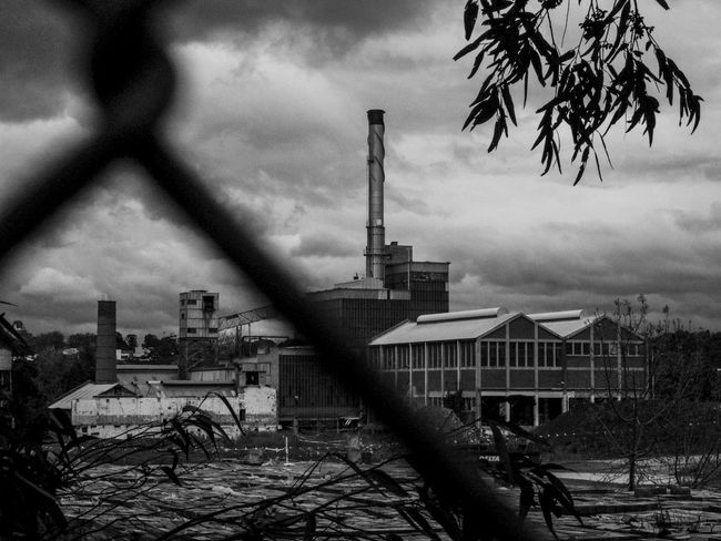 Abandoned Abandoned Factory Alphington Amcor Architecture Black And White Blackandwhite Building Exterior Built Structure Cloud - Sky Decrepit Factory Industrial Industrial Landscapes Industry No People Old Buildings Paper Mills Rainy Day Sky Smoke Stack