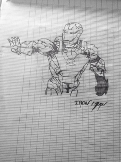Ironman Art Drawing Superheroes