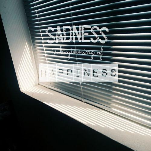 Typography Emotions Sadness Isbeginningof Happiness