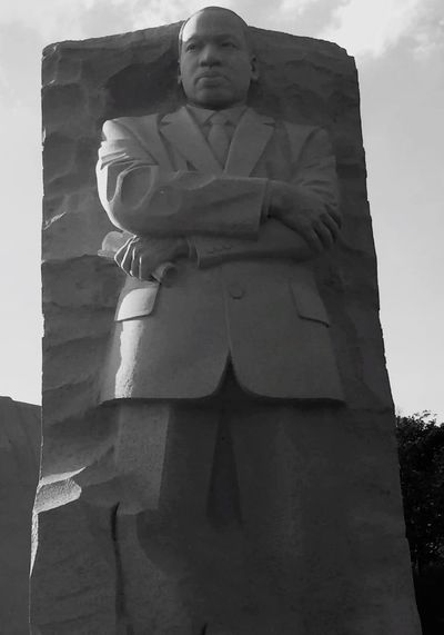 I have a dream... MLK Memorial Low Angle View Day Representation Human Representation Art And Craft Sculpture Standing