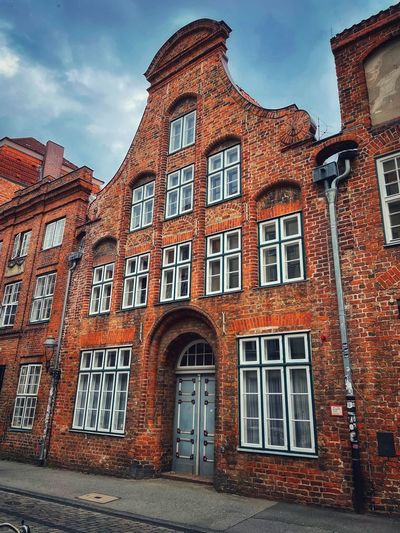 Exterior of old building against sky