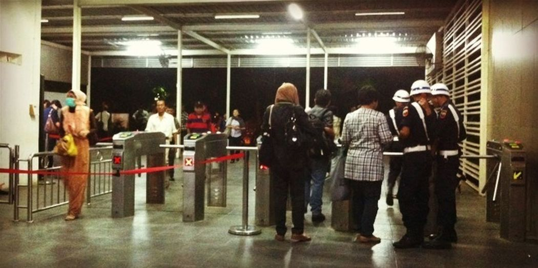 Guards Trainstation Entrance People