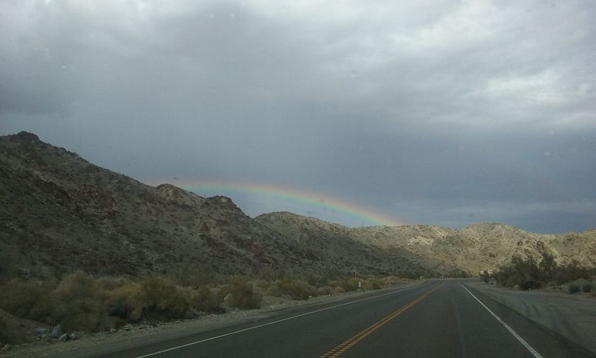 Rainbow Highway 95 Southern California Desert Beauty EyeEmNewHere Mountains Sky_collection Cloud_collection  Nature_collection Desert Landscape Roadtrip Check This Out Taking Photos