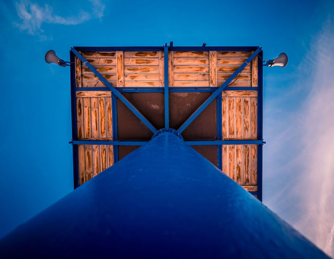 Blue No People Sky Symmetry Architecture Outdoors Day Close-up Tower Rescue Sea Travel Top Perspective Above The Week On EyeEm