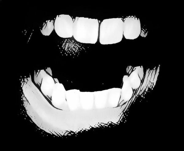 Dark Toothy Smile Tooth Dientes Mueca Siniestro Face Lips Negro Y Blanco Funny Faces Gesto Cara Negro Black & White Blackandwhite Grito Screaming