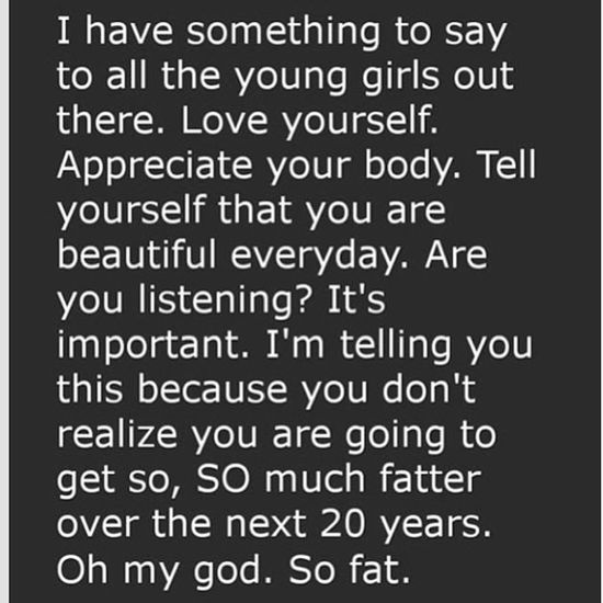 Laughedsohard Body Fat Fatkids girls loveyourself