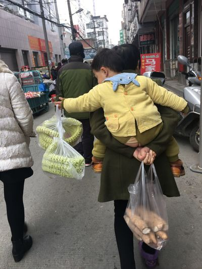 Ciy Life Real People Two People Shopping Bag Bag Lifestyles Day Togetherness Plastic Bag City Life
