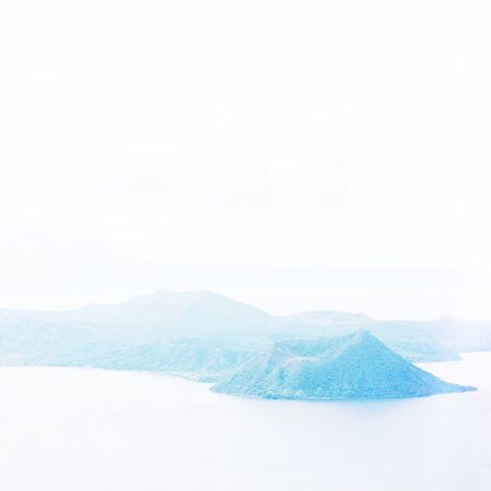 Taal Volcano Taal Lake Philippines Travel Travel Destinations Scenics Beauty In Nature Nature Idyllic Tranquil Scene Tranquility Landscape Non-urban Scene Mountain Sky Snow Cold Temperature Outdoors Day No People Winter