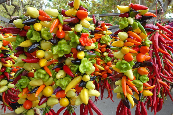 Basket Bell Pepper Chilli Chillis Close-up Cooking Food Food And Drink Freshness Freshness Healthy Eating Majorca Market Spicy Spicy Food Street Market Vegetables