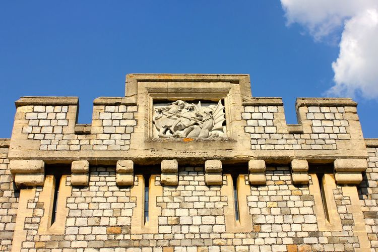 windsor castle details Ancient Ancient Civilization Archaeology Architecture Art And Craft Blue Building Building Exterior Built Structure Cloud - Sky Craft Day History Low Angle View Nature No People Outdoors Representation Sculpture Sky The Past Travel Travel Destinations