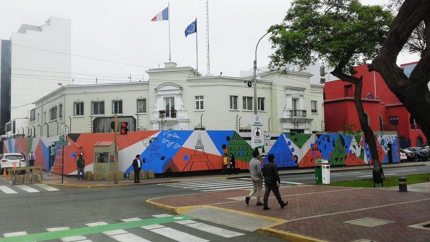 Embajadadefrancia Lindo  Arte Colores 😻🙊