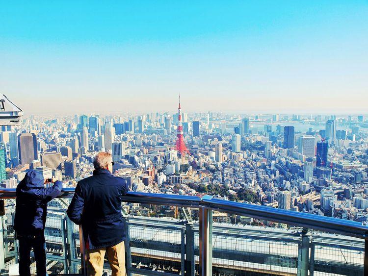 Japan Tokyo Minatoku Roppongi Construction Tower Tokyomidtown Sky And City