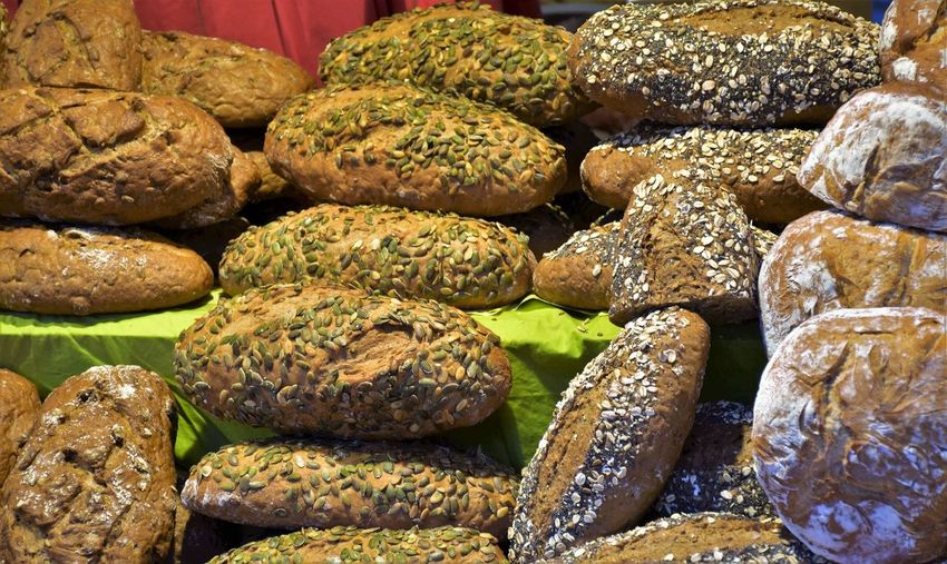 Austrian Food EyeEmNewHere Abundance Backgrounds Baked Bread Bread With Seeds Brown Close-up Day Food Food And Drink Food Fest For Sale Freshness Full Frame Healthy Eating Indoors  Large Group Of Objects No People Retail  Still Life Store Traditional Bread Wellbeing