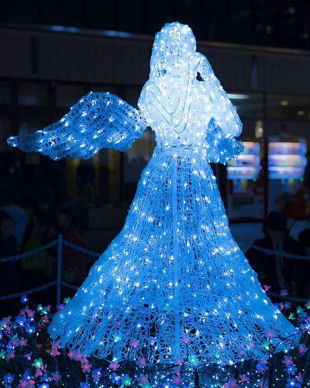 光のページェント 仙台 風景 夜景 イルミネーション 天使